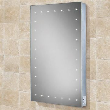 HiB Astral Portrait Steam Free LED Illuminated Mirror With Shaver Socket - 77450000